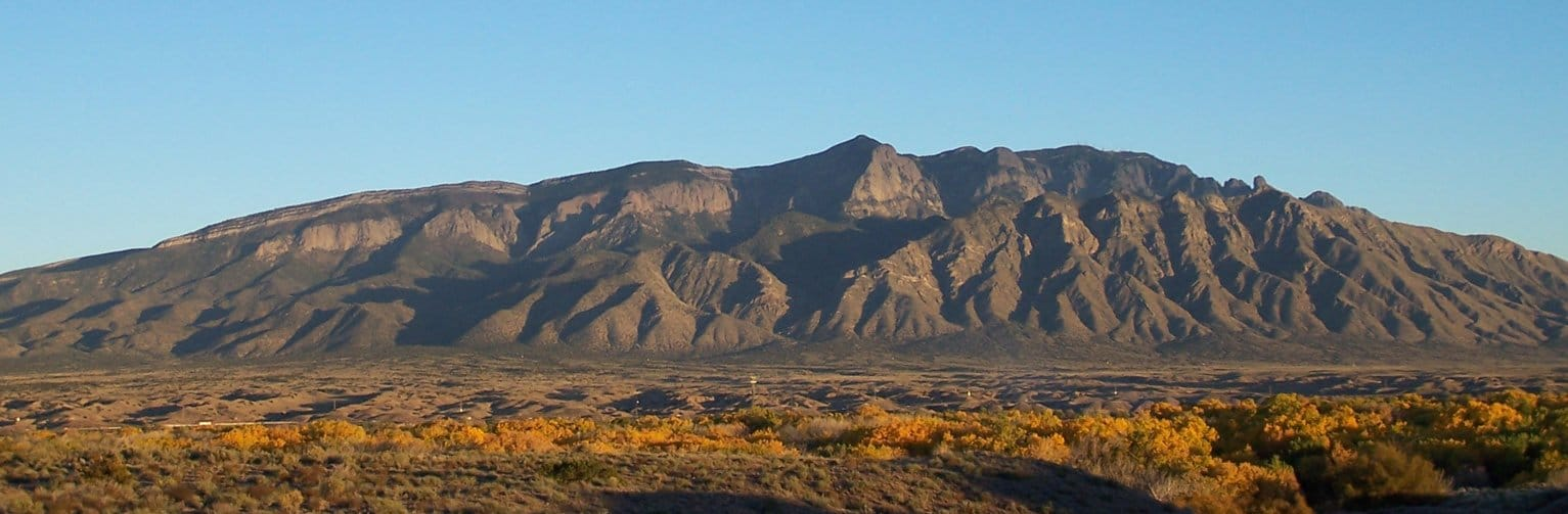 Sandia Mountains in New Mexico